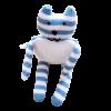 Doudou chat bleu 1