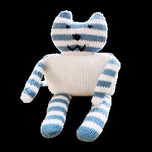 Doudou chat bleu 2
