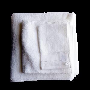assortiments de bain blanc